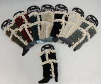 Knitted Boot Cuff [Antique Lace-3 Buttons]